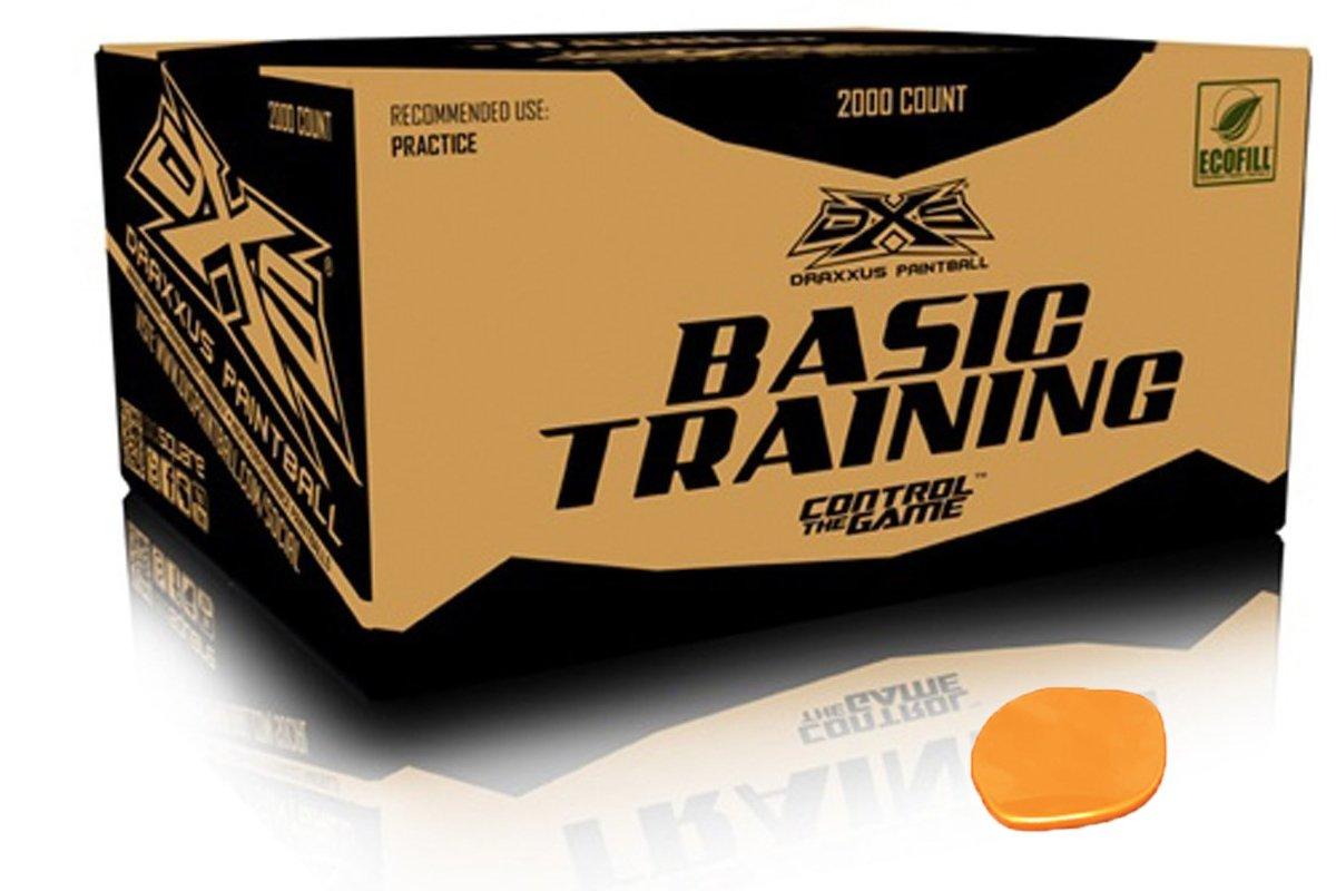 GI Sportz DXS Basic Training Paintballs Case of 2000 Rounds (Orange) by GI Sportz