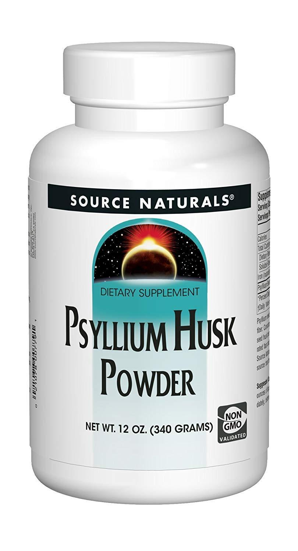 Source Naturals: Psyllium Husk Powder, 12 oz (Pack of 4)