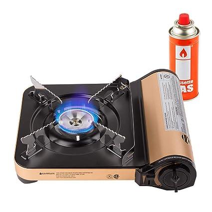 Amazon.com: Camplux JK-7000 Estufa de gas butano de un solo ...