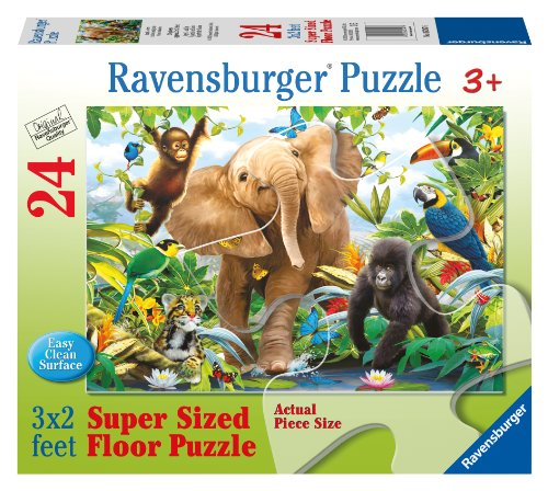 Ravensburger Jungle Juniors 24 Piece Floor Jigsaw Puzzle for Kids - Every Piece is Unique, Pieces Fit Together Perfectly