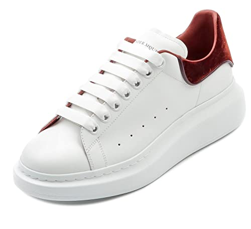 ab3d5e511a6ed Wiberlux Alexander McQueen Men's Contrast Red Wine Back Tab Sneakers ...