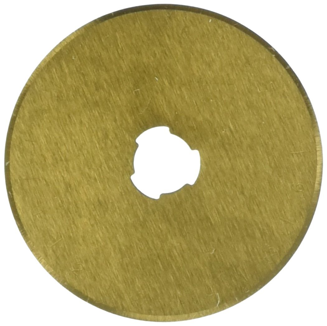 45mm Titanium Coated Rotary Cutting Blade 10 per Package Euro-Notions Roll The Gold