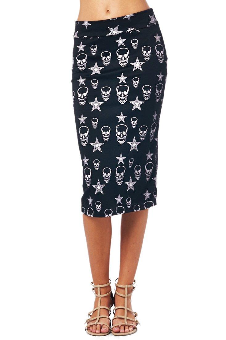 a628d3b783f 82 Days Women S Ponte Roma Printed Regular To Plus Below Knee Pencil Skirt  - Print product