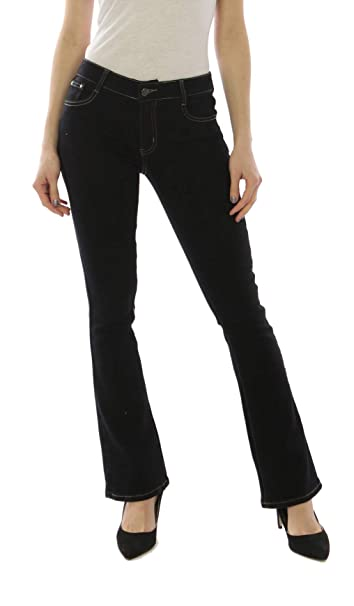 Simply Chic Mujer Vaqueros Slim, Skinny, Bootcut o Straight Pantalones Jeans Denim Talla 34 a 44