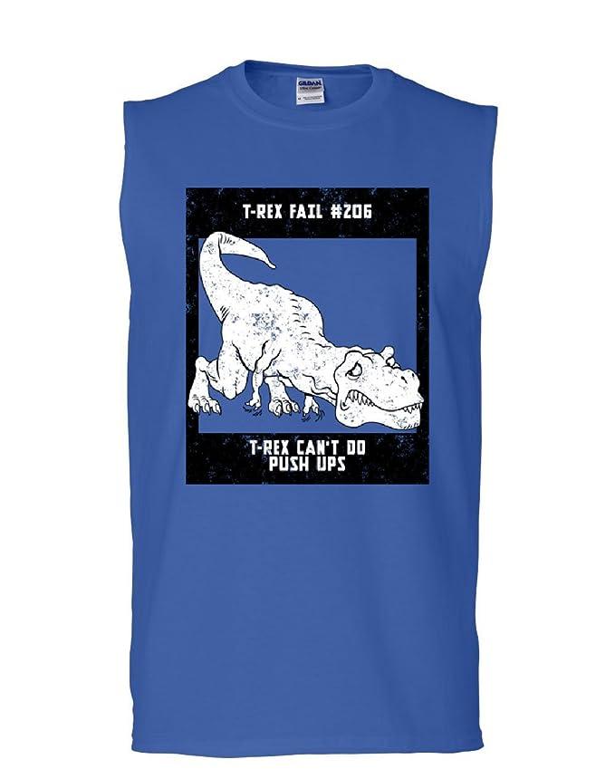 4cd0d0770 Tee Hunt T-Rex Can't Do Push UPS Muscle Shirt Funny Tyrannosaurus Fail Dino  Sleeveless at Amazon Men's Clothing store: