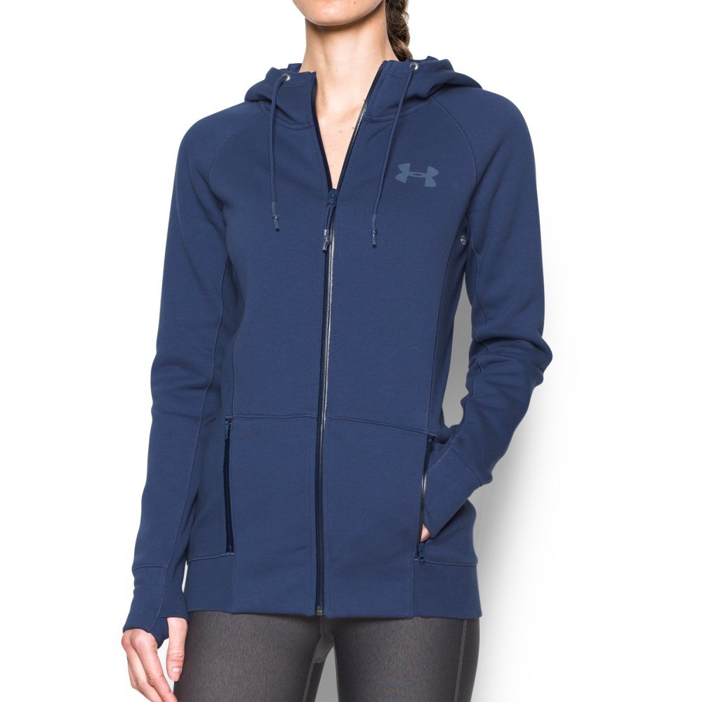 Under Armour Women's Varsity Fleece Full Zip, Faded Ink/Faded Ink, X-Small