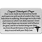 MAOFAED Surgical Technologist Gift Surgical Tech Gift Surgical Technologist's Prayer Wallet Card Surgery Tech Jewelry…