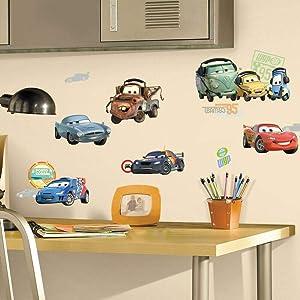 RoomMates Disney Pixar Cars 2 Peel and Stick Wall Decals, RMK1583SCS
