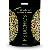 5-Pack Wonderful Roasted and Salted 6 Ounce Pistachios Pouch