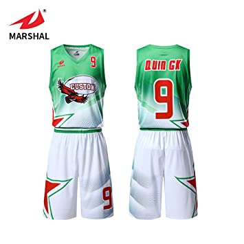 46f93e677 ZHOUKA custom team training mesh basketball jersey uniform design green and  white color not fade (