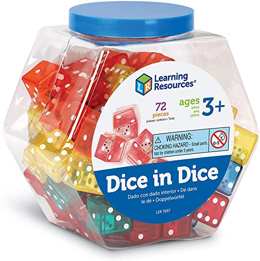 Large Variety of Dice Sets of 6 Great Teaching Resource for Student Activities