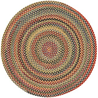 product image for Capel Rugs High Rock Round Braided Area Rug, 9', Gold