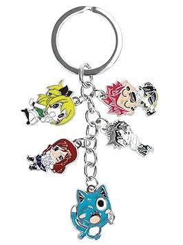 CoolChange Llavero de Fairy Tail con 5 Figuras Chibi: Amazon ...