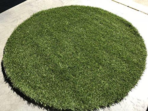 5' Circular Grass Mat - Indoor/Outdoor All Green Artificial Grass Rug