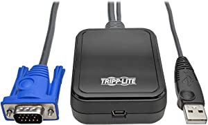 Tripp Lite KVM Console to USB 2.0 Portable Laptop Crash Cart Adapter 1080p with File Transfer & Video Capture (B032-VU1)
