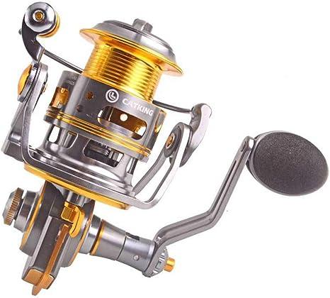 E-KIA Carrete De Pesca Carretes Spinning,Cuerpo De Metal Completo, Rodamiento 9 + 1, Tipo De Largo Alcance: Amazon.es: Deportes y aire libre