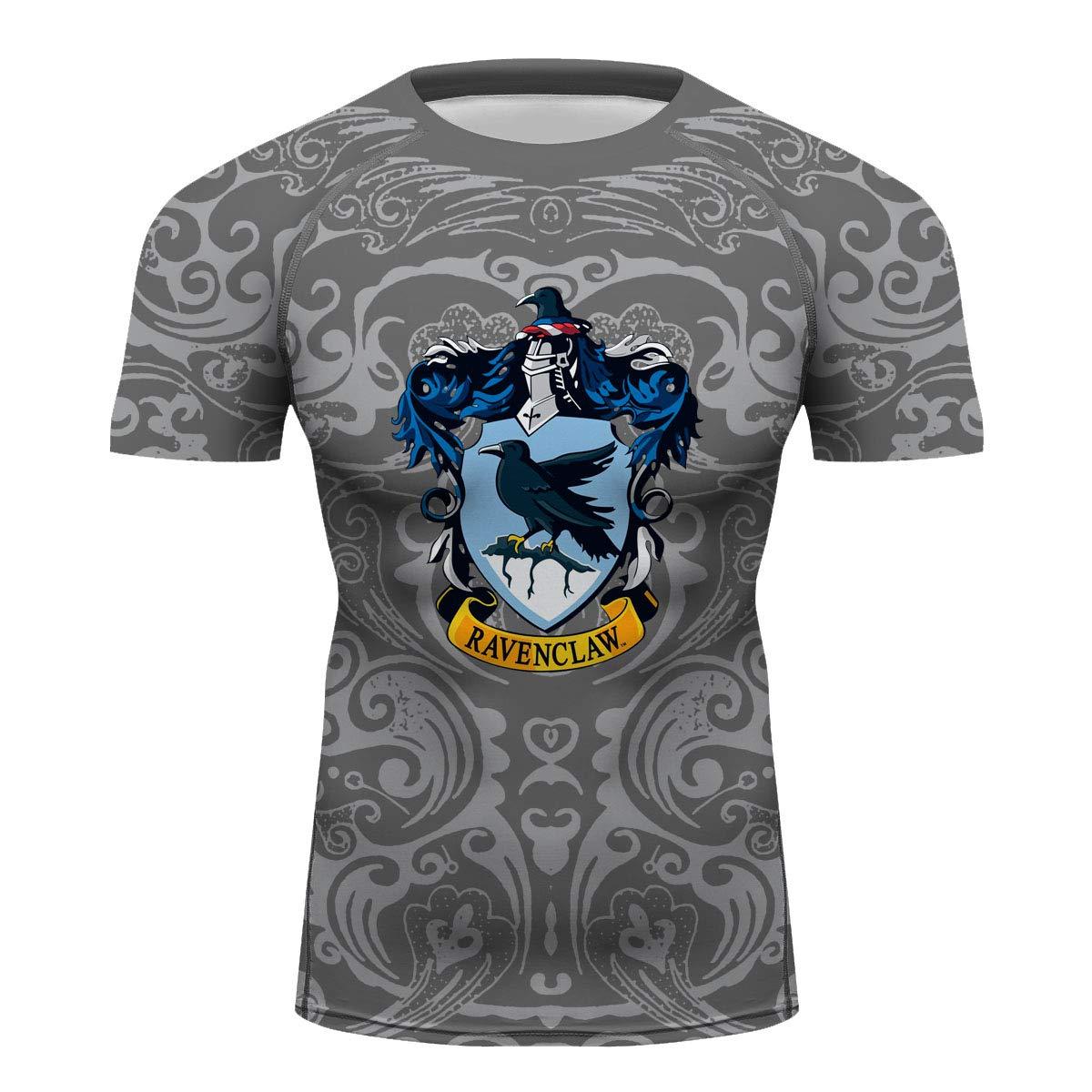 Men Body Building Tee Top Wrestling Cross Training House Ravenclaw Printing Singlet