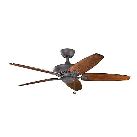 Kichler 300117dbk 52 ceiling fan amazon kichler 300117dbk 52 ceiling fan aloadofball Image collections