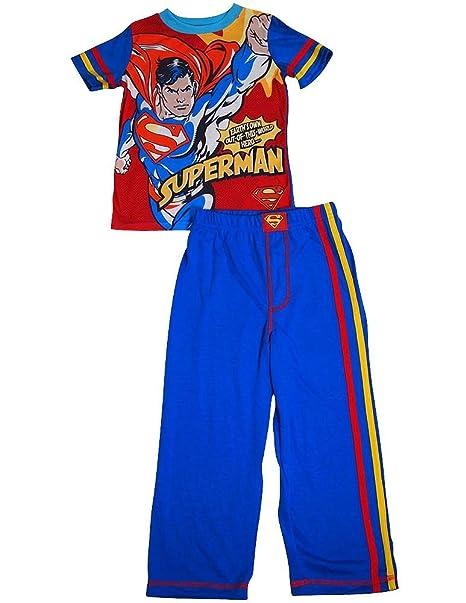 58b291eaa Amazon.com  Superhero - Little Boys Short Sleeve Long Leg Pajamas ...