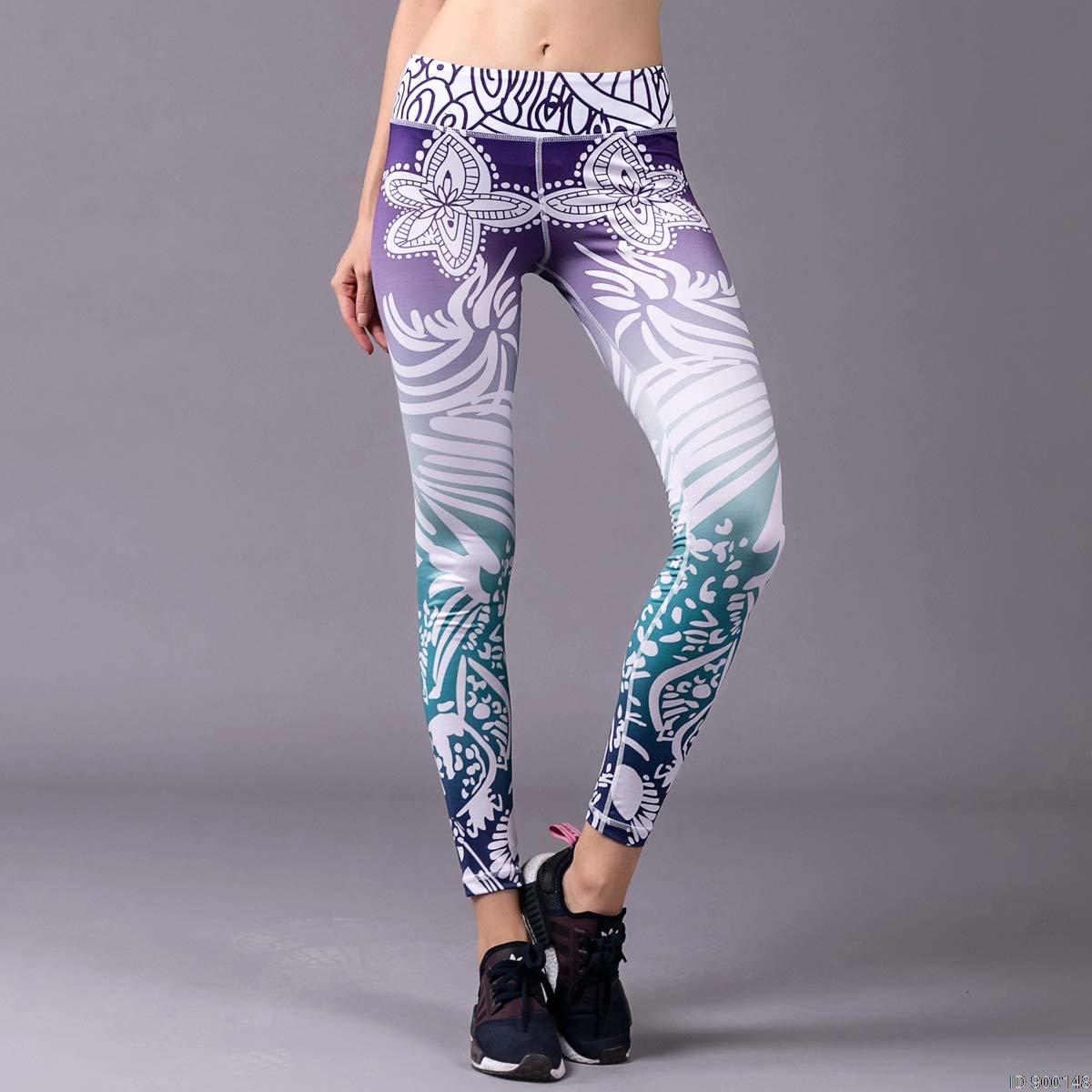 YUYOGAP Druck Yoga Hosen Frauen Fitness Leggings Workout Sport Laufen Leggings Sexy Push Up Gym Wear Elastic Slim Pants