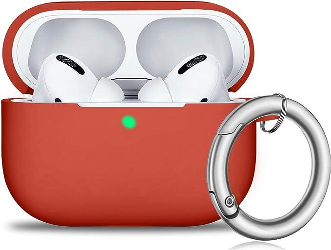 Airpods Pro Hülle Front Led Sichtbar Vollschutz Silikon Skin Cover Für 2019 Apple Neueste Airpods Pro Case Rose Red Elektronik