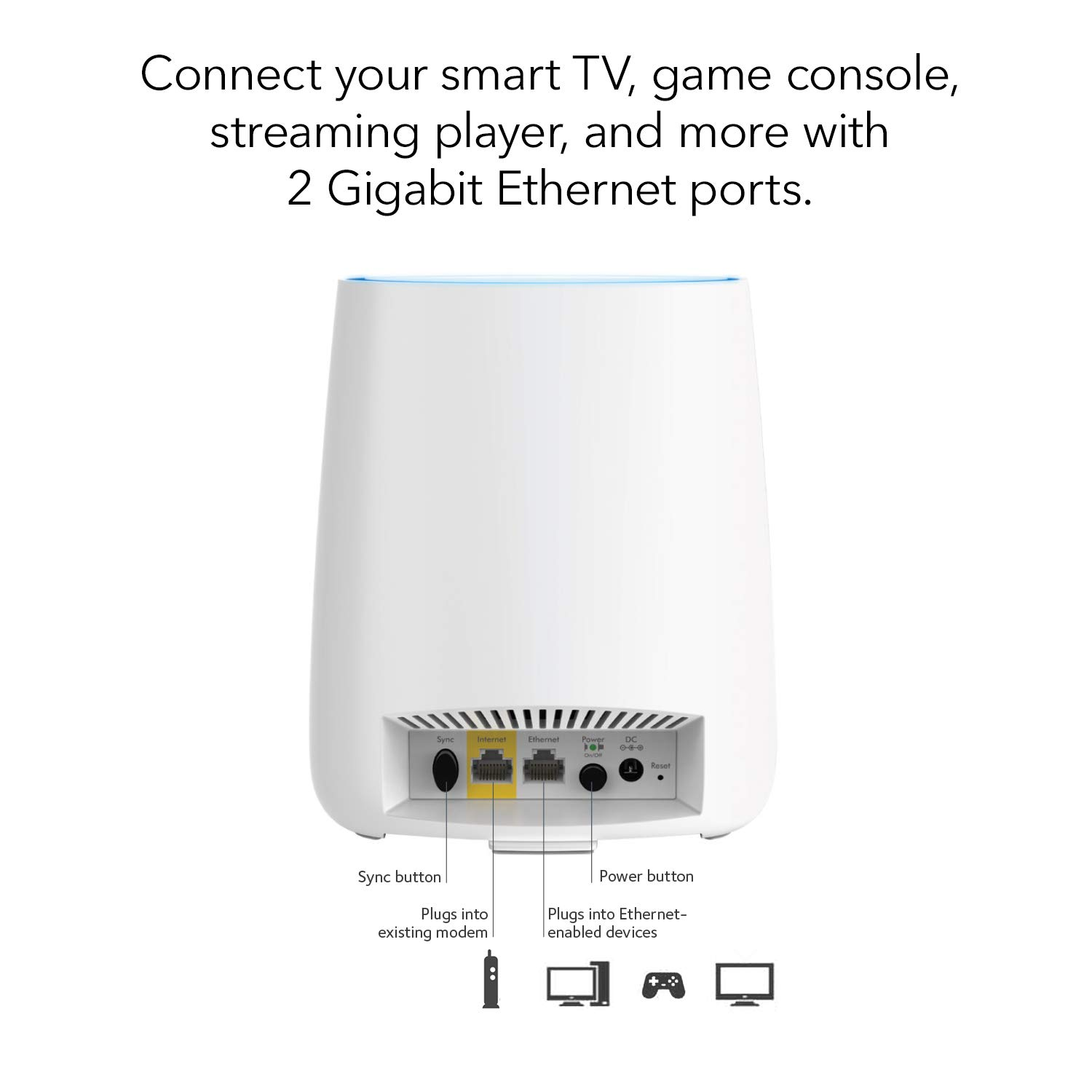 NETGEAR Orbi Whole Home Mesh-Ready WiFi Router - for speeds up to 2.2 Gbps Over 2,000 sq. feet, AC2200 (RBR20) by NETGEAR (Image #2)
