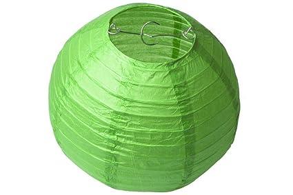 Lampadario Di Carta Velina : Linyena verde rotondi lanterne di carta velina lampade decorazione