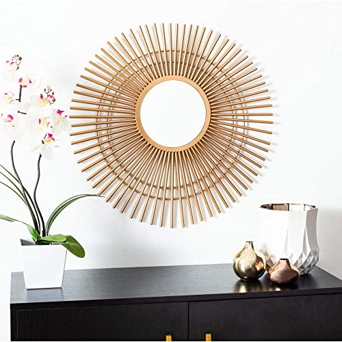 Safavieh Home Marlit Gold Sunburst 24-inch Decorative Accent Mirror