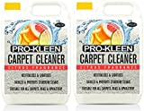 Pro-Kleen Professional Carpet & Upholstery Shampoo – Citrus Fragrance - High Concentrate Cleaning Solution - Suitable For All Machines - 10 Litres
