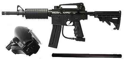 Amazon Com Spyder Mrx Magazine Fed Paintball Marker Gun Gunner Set