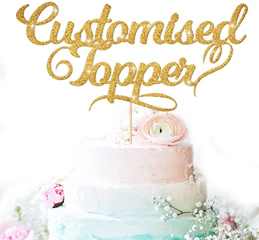 Enjoyable Edsg Personalised Cake Topper Happy Birthday Decorations Double Funny Birthday Cards Online Elaedamsfinfo