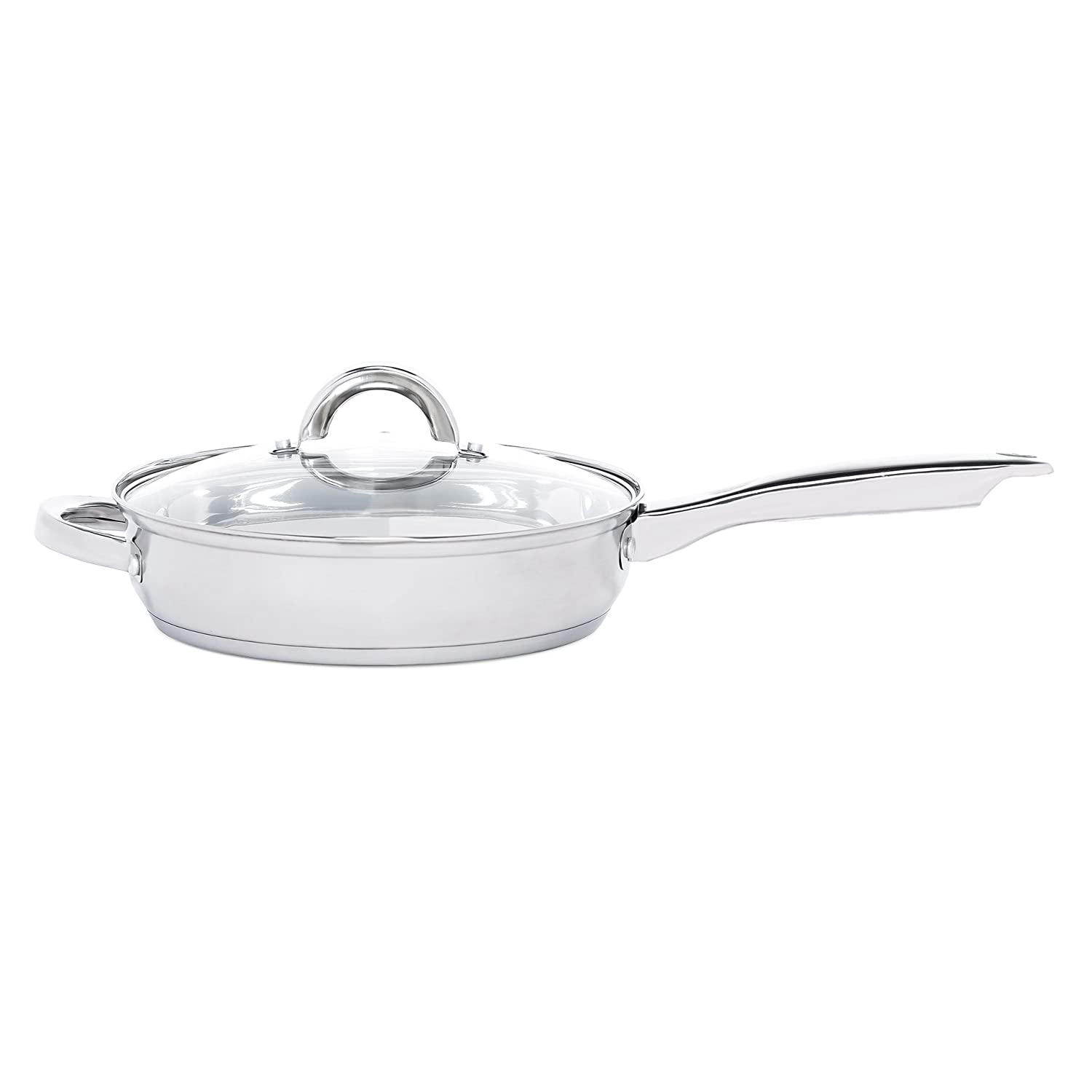 Heim Concept W-001 12-Piece Induction Ready Stainless Steel Cookware Sets with Glass Lid Silver on Cookware Sets Stainless Steel Cookware Sets on Sale