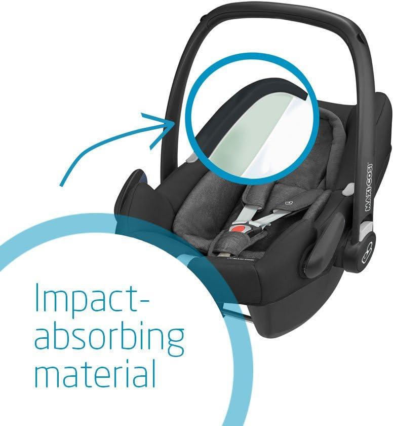 0-12 m Rearward-Facing Scribble Black i-Size Car Seat Maxi-Cosi Rock Baby Car Seat Group 0+ 0-13 kg ISOFIX