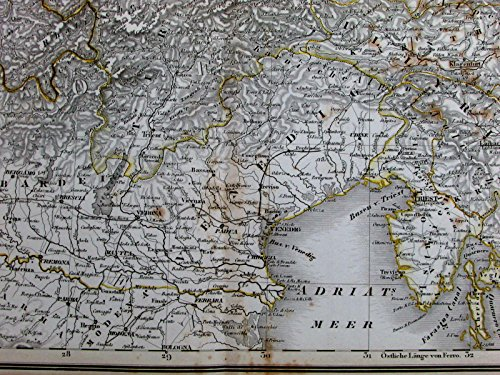 Southern Germany Bavaria Munich Austria Vienna Venice Alps 1857 old Stein map - Bavaria Stein