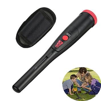 egoelife impermeable Handheld Detector de metales pinpointer LED de alta sensibilidad tesoro caza herramienta con enganche para el cinturón: Amazon.es: ...