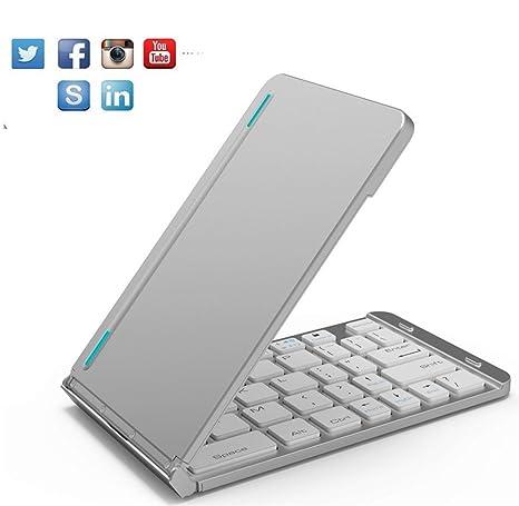 Neutral products Teclado inalámbrico portátil Universal Plegable de Bluetooth 3.0 para el iPad 2017 2018 Teclado