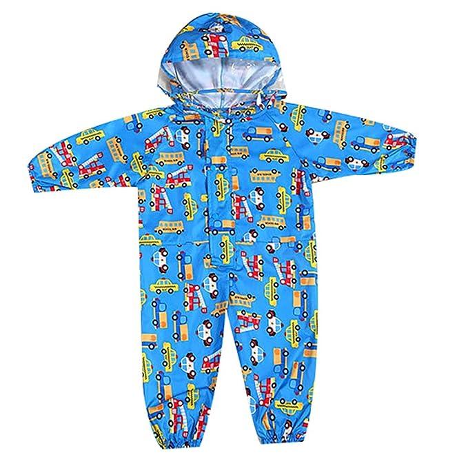 Regenanzug Playshoes Kinder Zweiteiliger Matschanzug wasserdicht Regen-Set Basic f/ür Jungen und M/ädchen