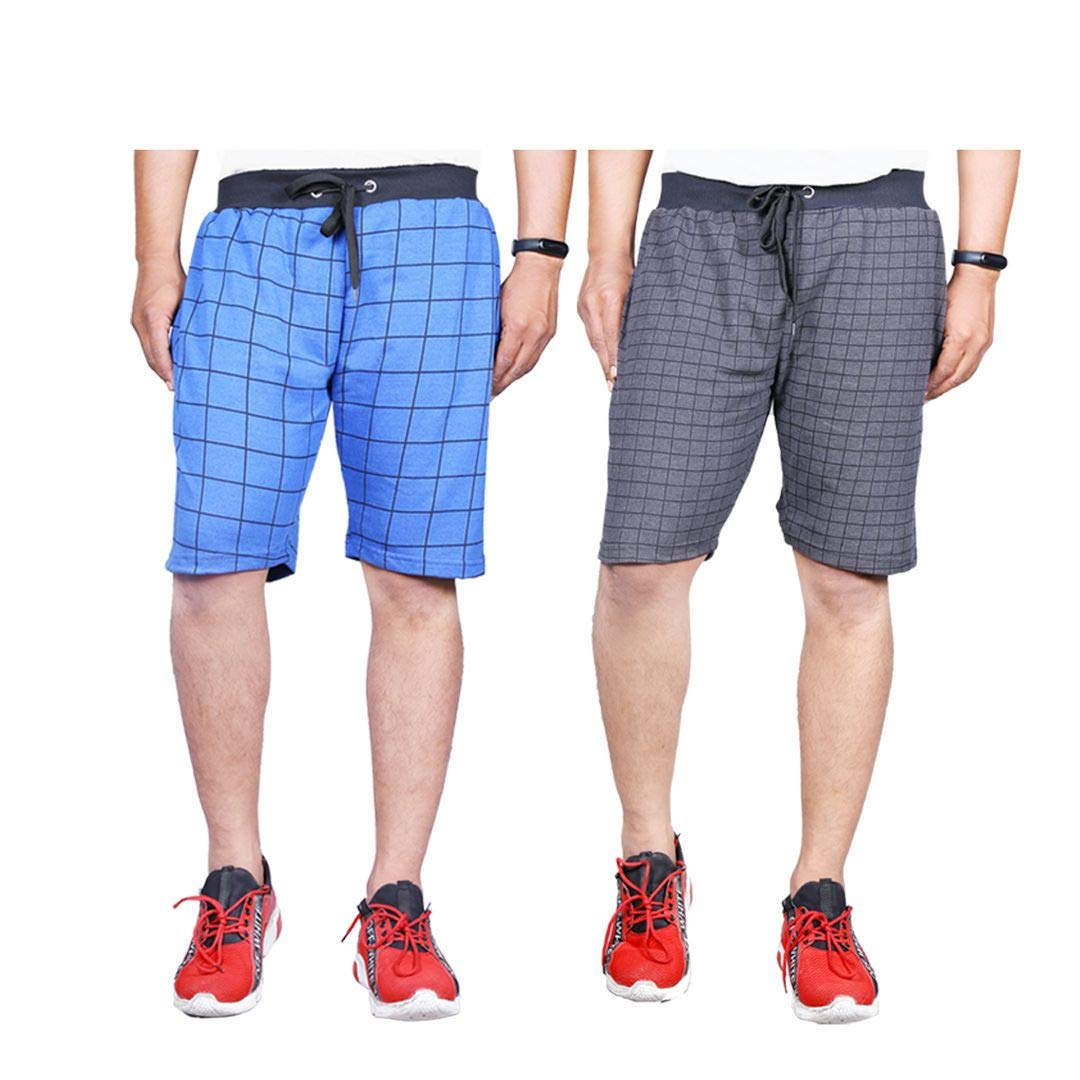 Ezee Sleeves Checked Shorts Pack of 2