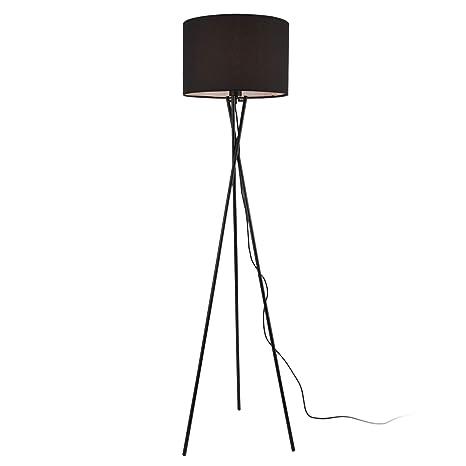 lux.pro Stehleuchte Arensburg 153cm Stehlampe Standleuchte Stand Lampe Metall Schwarz 1x E27 60W