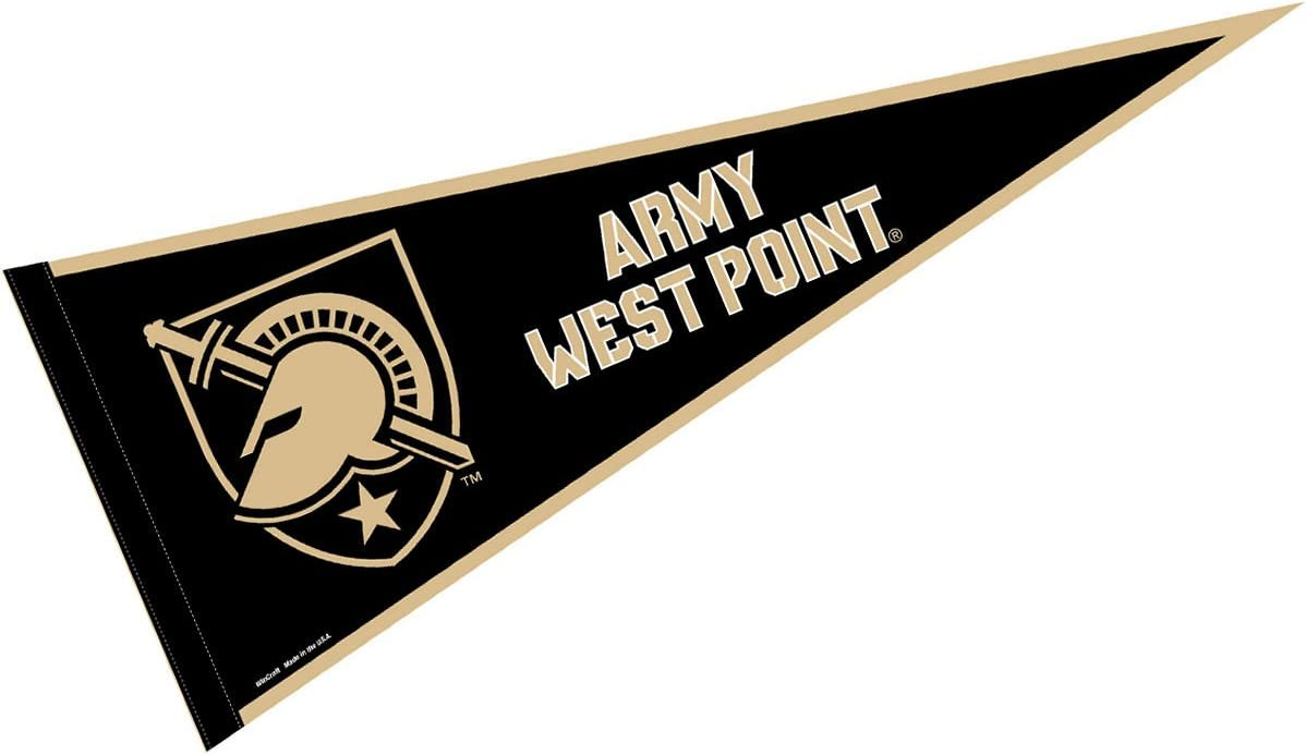 College Flags and Banners Co Army Black Knights Pennant Full Size Felt