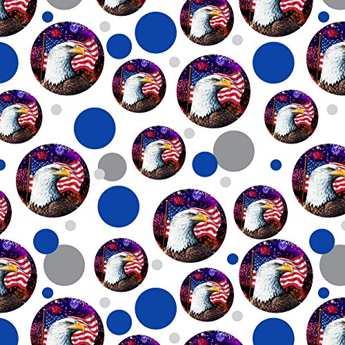 GRAPHICS & MORE Eagle Patriotic 4th of July Celebration American Flag Fireworks Premium Gift Wrap Wrapping Paper Roll