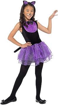 Halloweenia Disfraz de Gato para niña, Disfraz con tutú y Diadema ...
