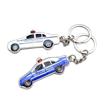 NYC NYPD Llavero de policía para coche, regalo de recuerdo ...