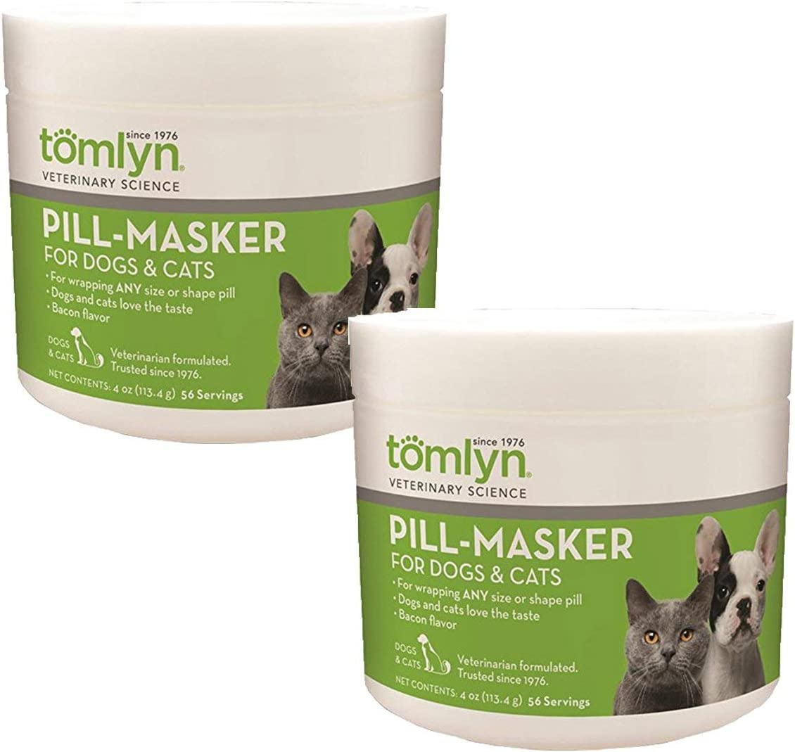 Tomlyn 2 Pack of Pill Masker, 4 Ounces each, Bacon Flavor Pill Wrap for Dogs and Cats