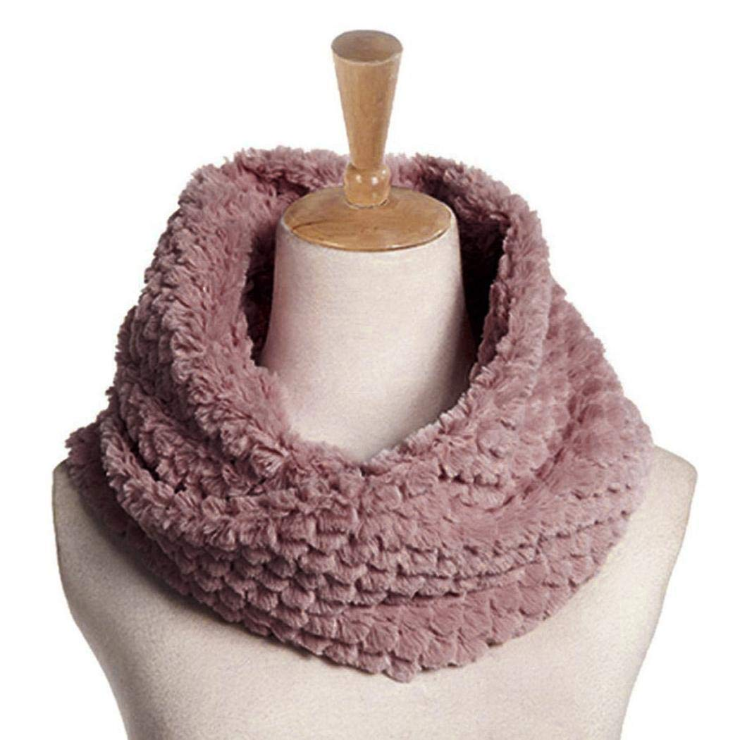 Acecor Unisex Casual Soft Solid Winter Warm Bib Scarf Accessories Cold Weather Scarves /& Wraps