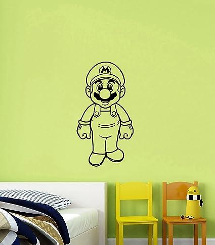 Amazon.com: Super Mario Vinyl Wall Sticker Decal Video Game ...