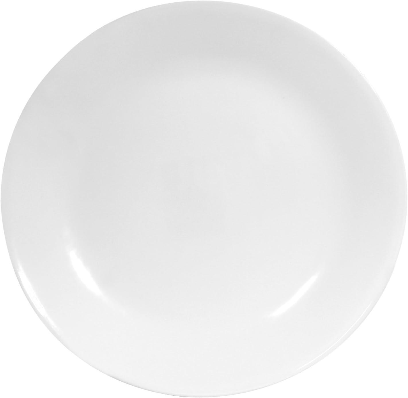 Corelle Livingware 6-Piece Dinner Plate Set, Winter Frost White (2 Sets of 6)