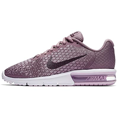 964d1df0c7 Nike Women's Air Max Sequent 2 Running Shoe, Size 6.5, Taupe Grey/Port