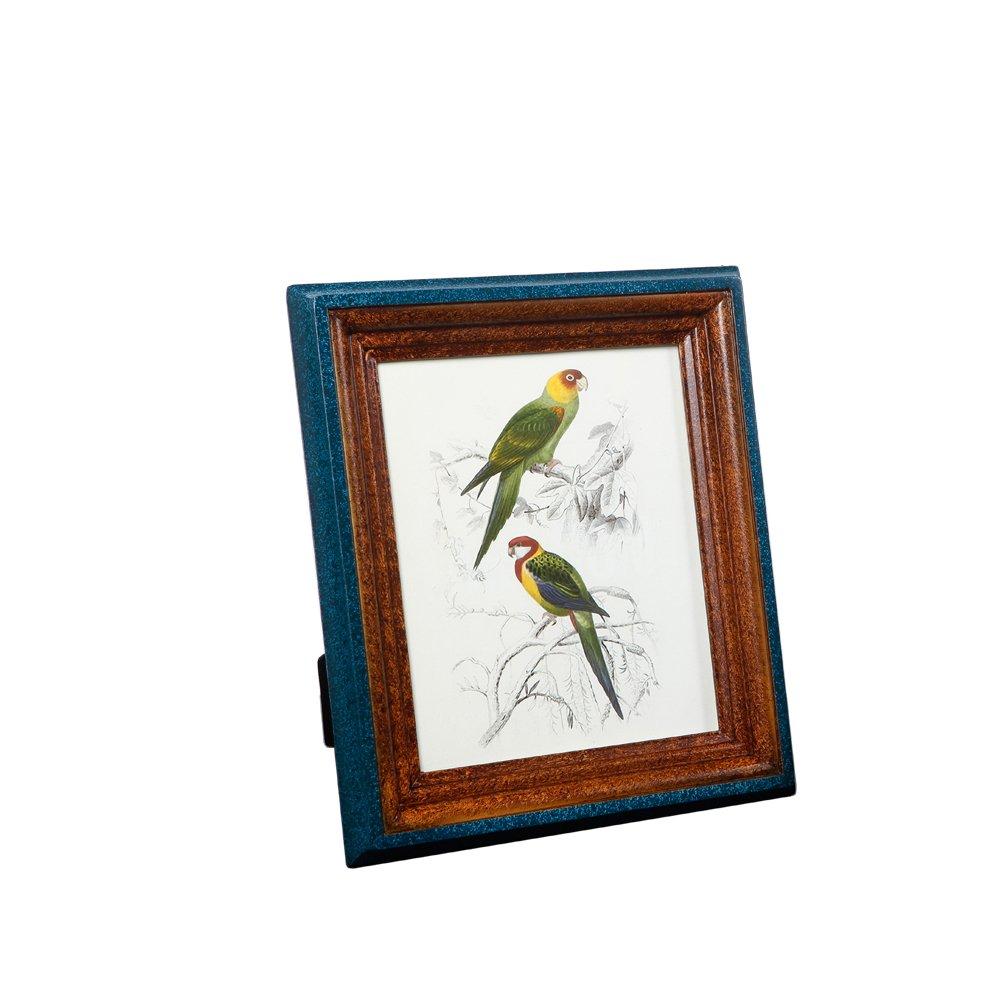 Fulemay 木製フォトフレーム「木の芸術」シリーズ 写真立て KG 2L 6切り グリンー ブルー ブラウン ホワイト B075LHF682 6切り|青と茶 青と茶 6切り