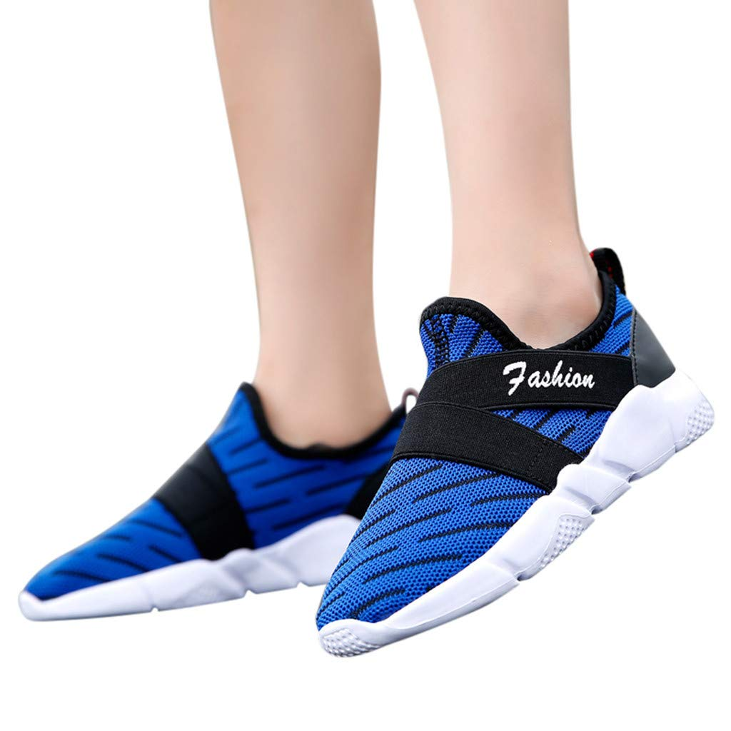 Moonker Boys Girls Tennis Shoes Outdoor Running Shoes for 5-12 Years Old Kids Children Breathable Sport Sneaker